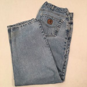Carhartt light blue patch logo denim jeans